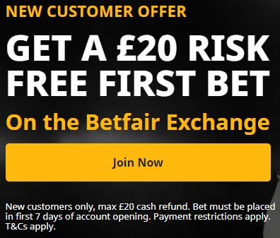 New Customer Offer for the Royal Ascot 20 free bet in exchange
